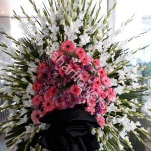 تاج گل ترحیم 1 طبقه کد 242