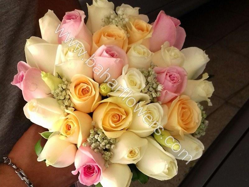 دسته گل عروس 609