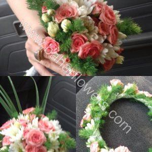 دسته گل عروس 613