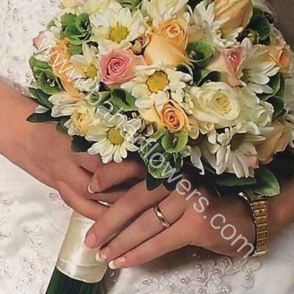 دسته گل عروس 614