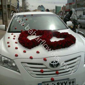 گل ماشین عروس کد 600