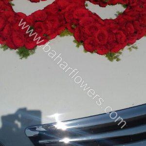 گل ماشین عروس کد 602