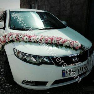 گل ماشین عروس کد 610