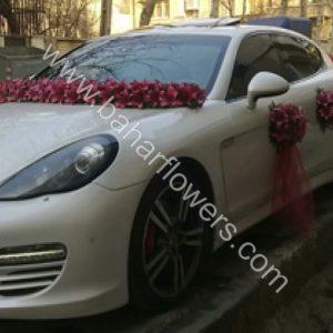 گل ماشین عروس کد 613