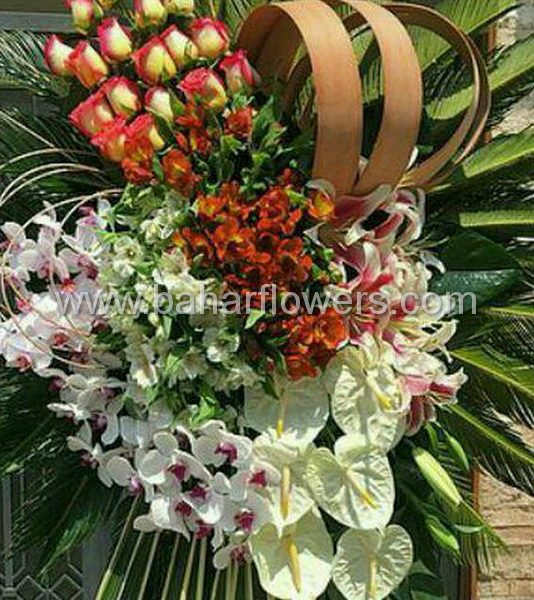 پایه گل تبریک سفارشی کد 220