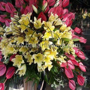 پایه گل تبریک و افتتاحیه چوبی ویژه کد 249