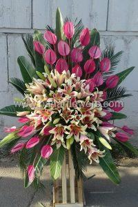 تاج گل ها تبریک و افتتاحیه کد 228 گالری گل بهار