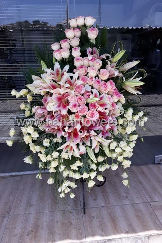 پایه گل فلزی تبریک 1 طبقه کد 250